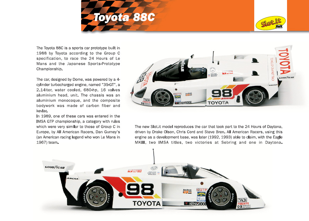 This from Slot.it: 'The Toyota