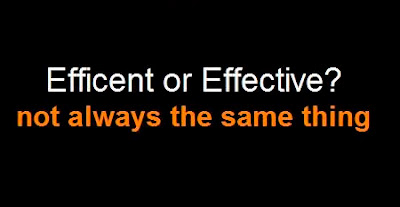 Efficiency versus Effectiveness