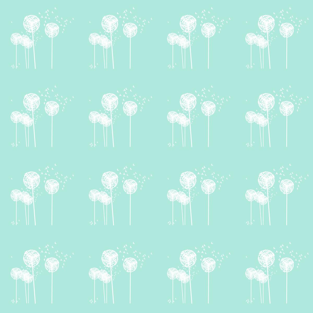 free digital mint dandelion scrapbooking paper ausdruckbares geschenkpapier freebie. Black Bedroom Furniture Sets. Home Design Ideas