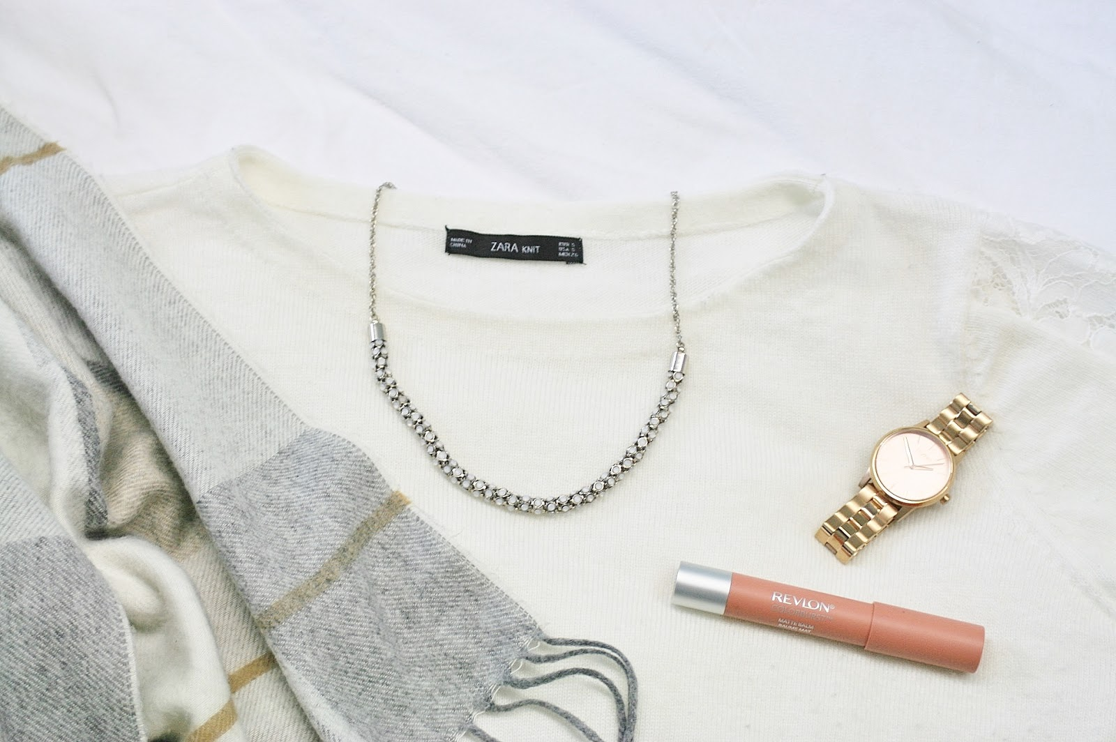 Katherine Penney Chic Fashion Style Outfit Tartan Zara