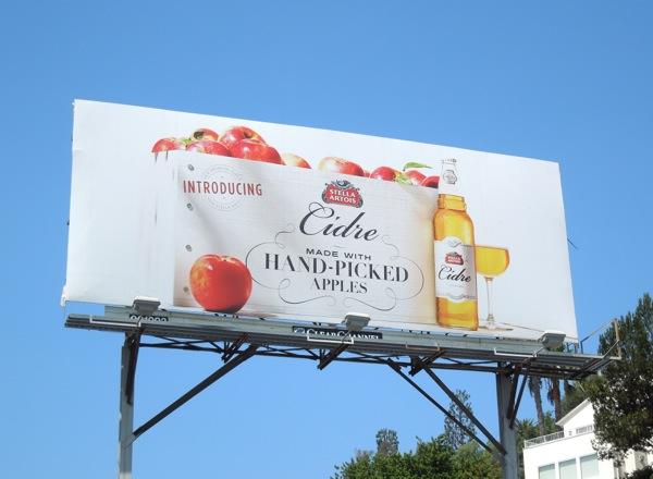 Introducing Stella Artois Cidre billboard
