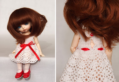 вязаное платье для для pukiFee