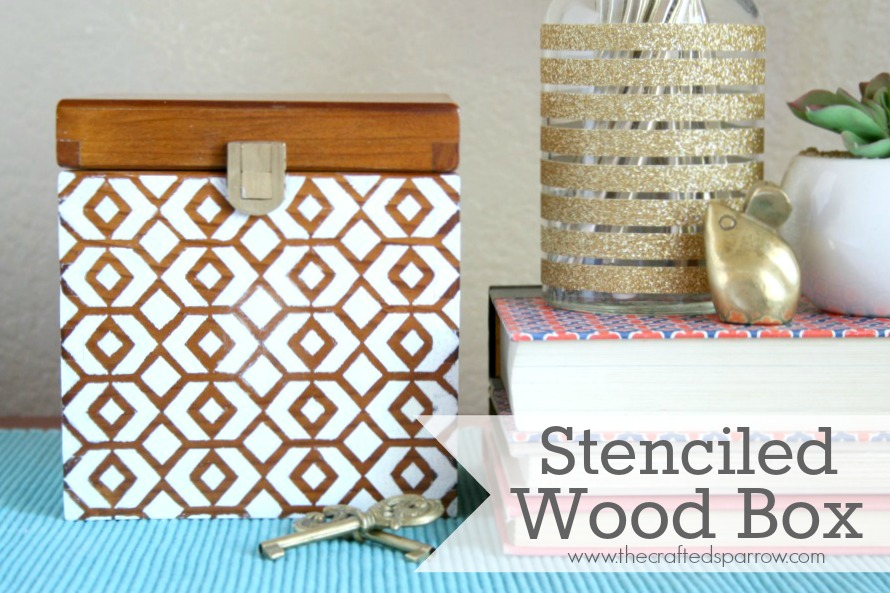 Stenciled Wood Box Custom Decorating Wooden Boxes