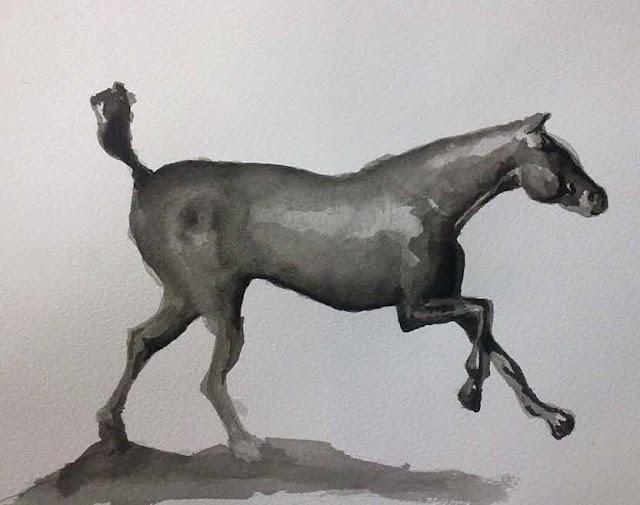 copia de la escultura de degas caballo