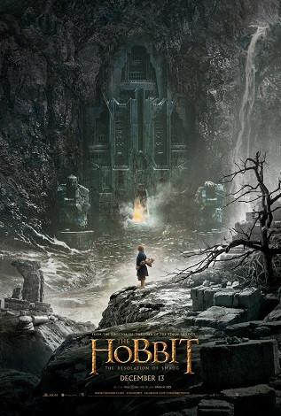 Cartel de El Hobbit, la desolación de Smaug