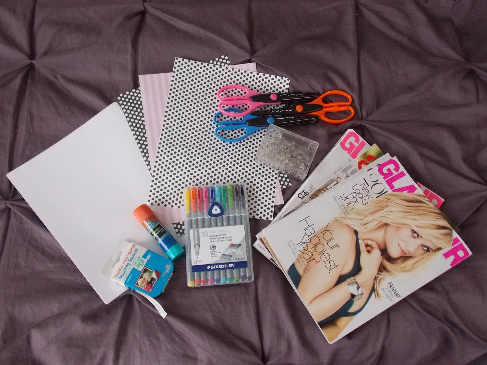 Vision board materials by Janetta LeRose
