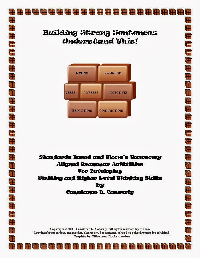 """Building Strong Sentences - """"Understand This! cover"""
