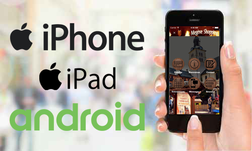 Applications disponibles sur : iPhone, iPad, Android, smartphone, tablette, Samsung...