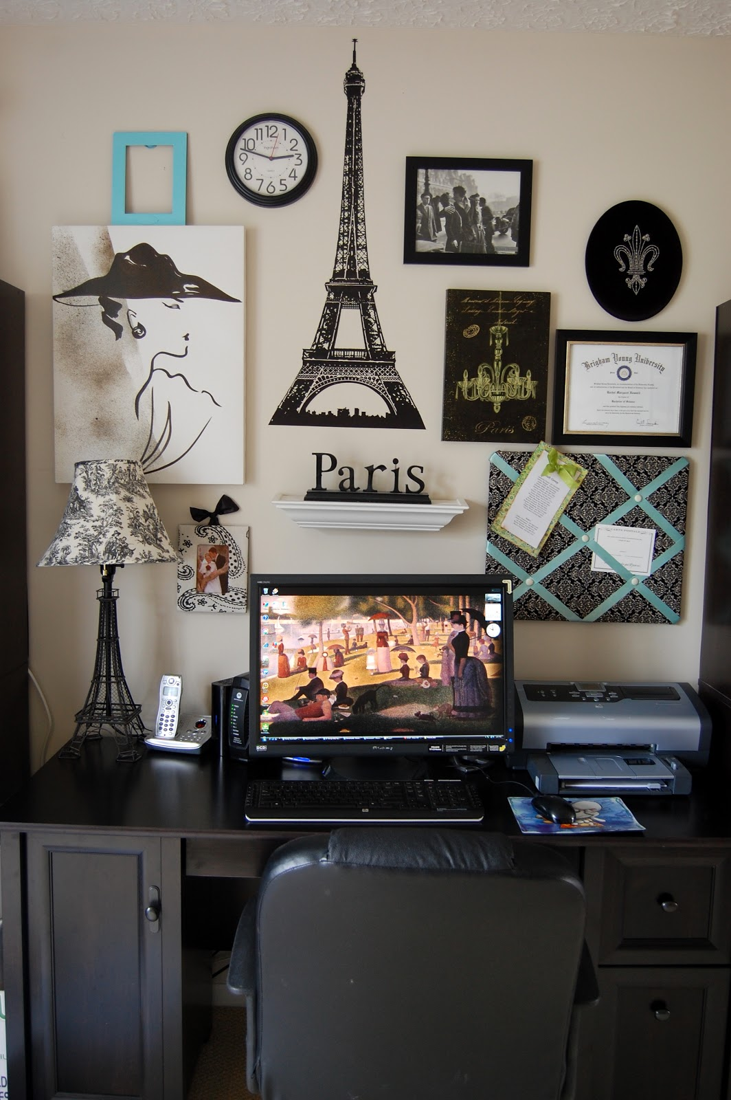 Family ever after paris gallery wall for Paris living room ideas