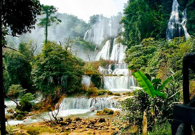 A perfect holiday destination is the Tilawisu Waterfall at Umphang it's only difficult to travel there.