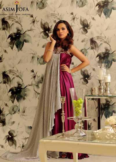 Asim Jofa Latest And Stylish Party Wear Dresses 2013  V Luv Fash!on
