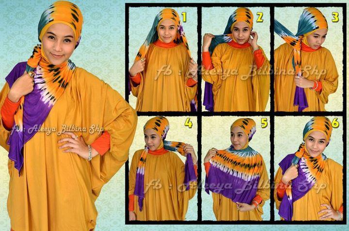 Cara Memakai Jilbab Pashmina 2 Tone  Hot Girls Wallpaper