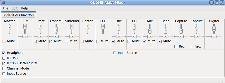 GUI audio preferences