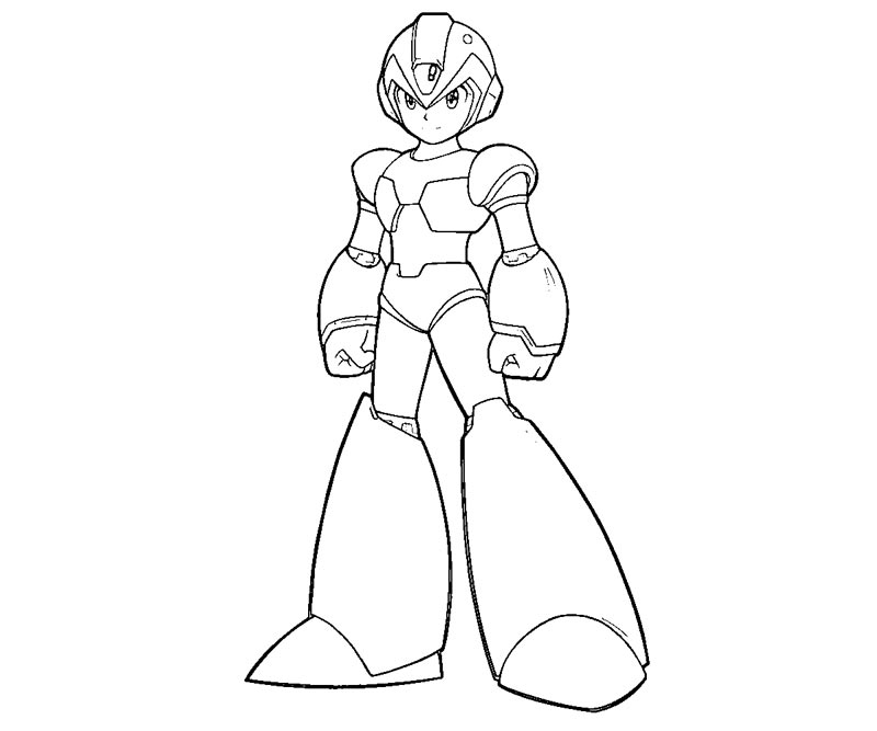 mega man coloring pages free - photo#8