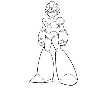 #7 Mega Man Coloring Page