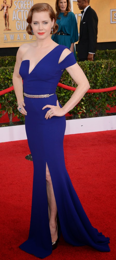 Amy Adams Blue Dress 2014 SAGA Awards - Affordable Wedding Dresses - Feeling Blue