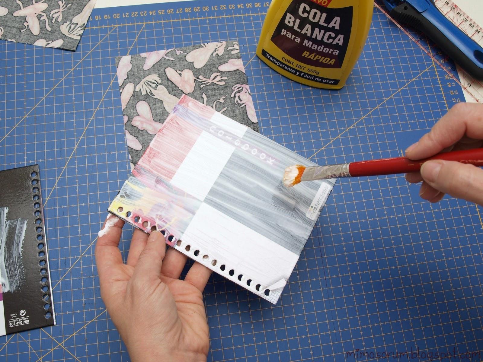 DIY: Fabric Cover Notebook. Mimosorum