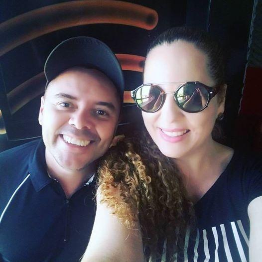 Com a cantora Babi do Forró Check-In