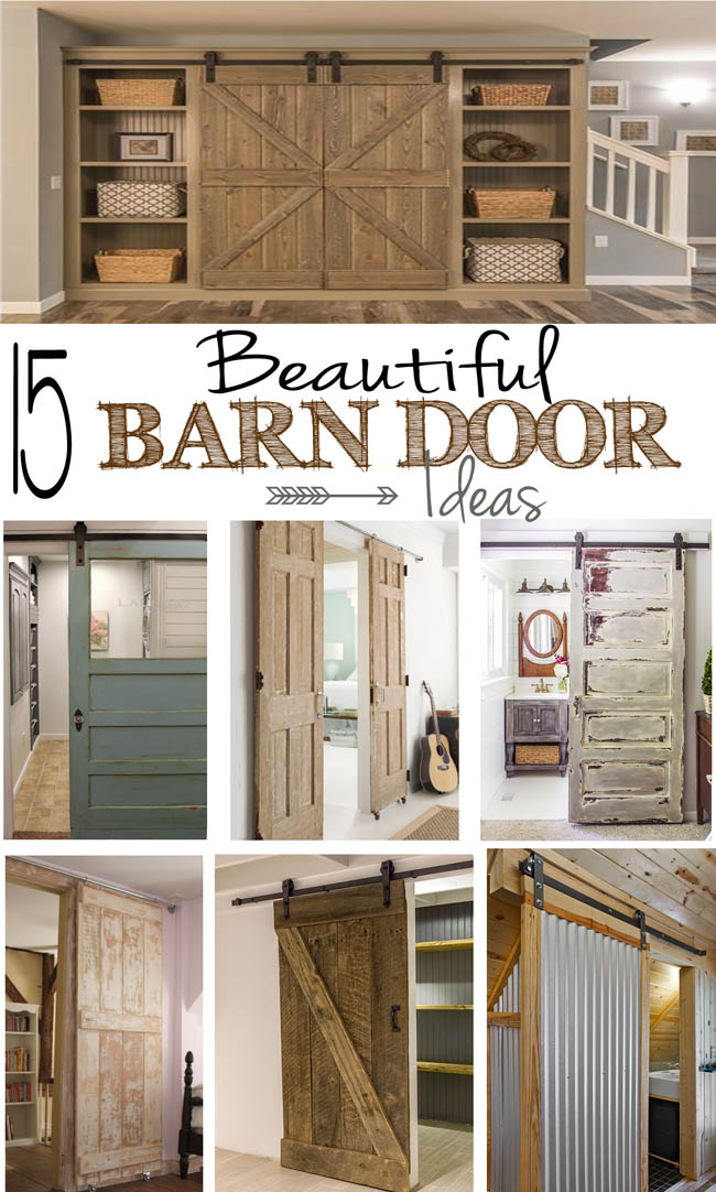 15 beautiful barn door ideas remodelando la casa for Barn door closet door ideas
