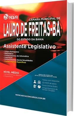 Apostila Câmara de Lauro de Freitas 2016 - Assistente Legislativo
