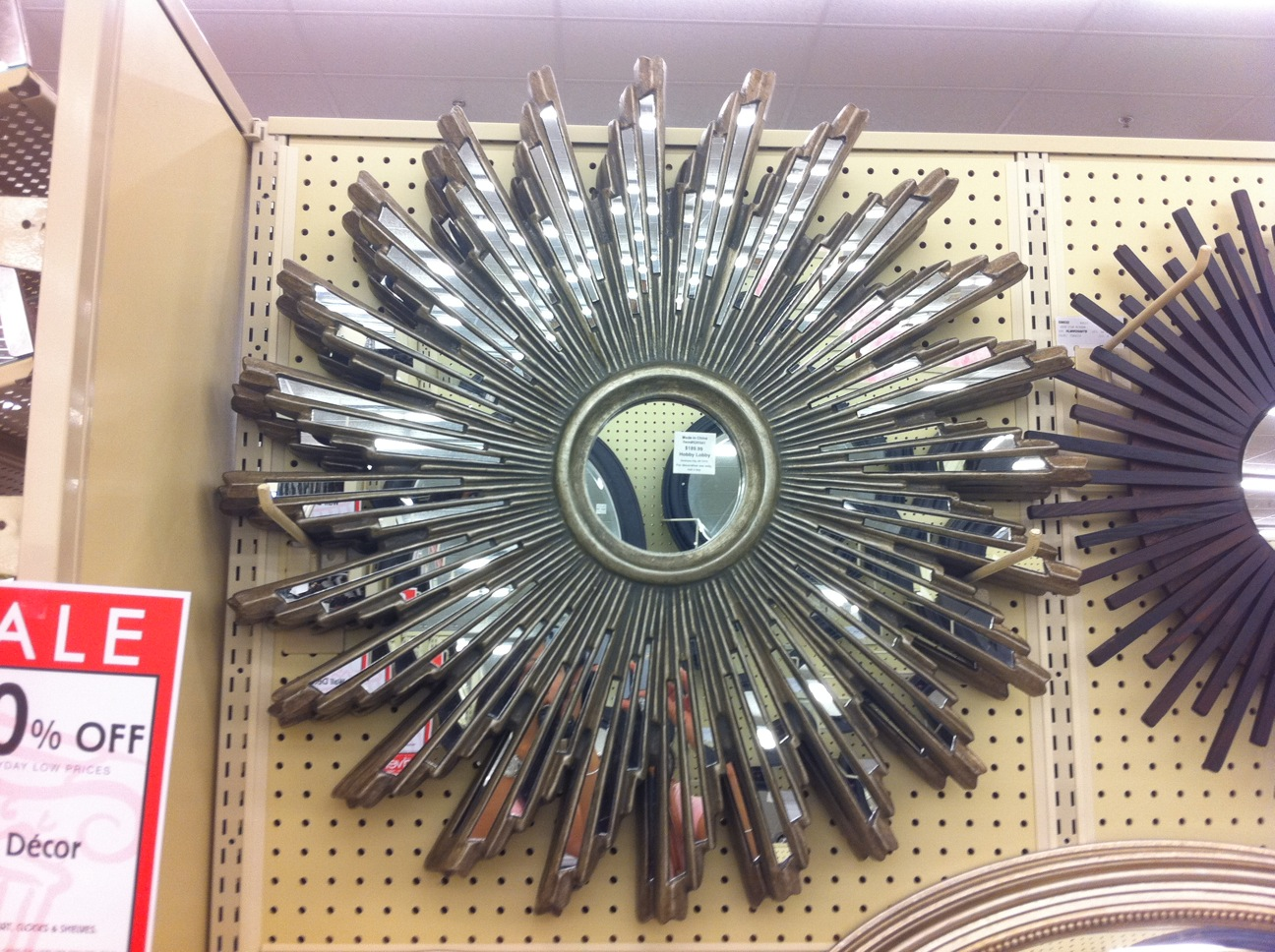 One Perfect Room : Hobby Lobby sunburst mirror