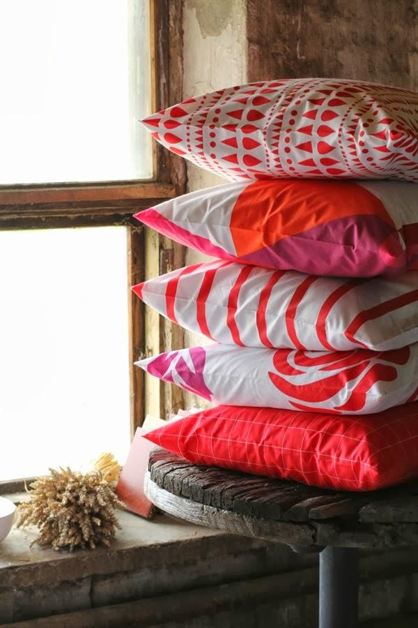 almofadas - combinação de cores