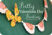 Valentine Day 2013 (pretty valentines day bunting raisinguprubies)