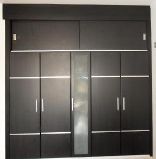 Puertas para closet con incrutaciones de aluminio for Puertas corredizas para closet