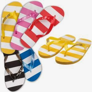 Adult striped flip flops