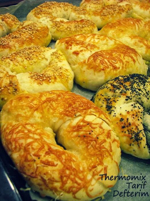Plain, Cheese and Olive Bagels