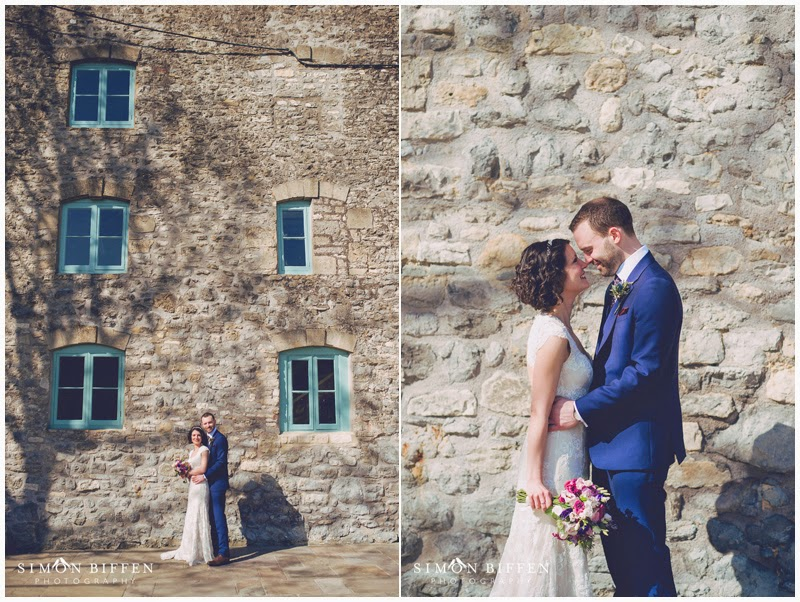 Bride and Groom portraits at Priston Mill wedding