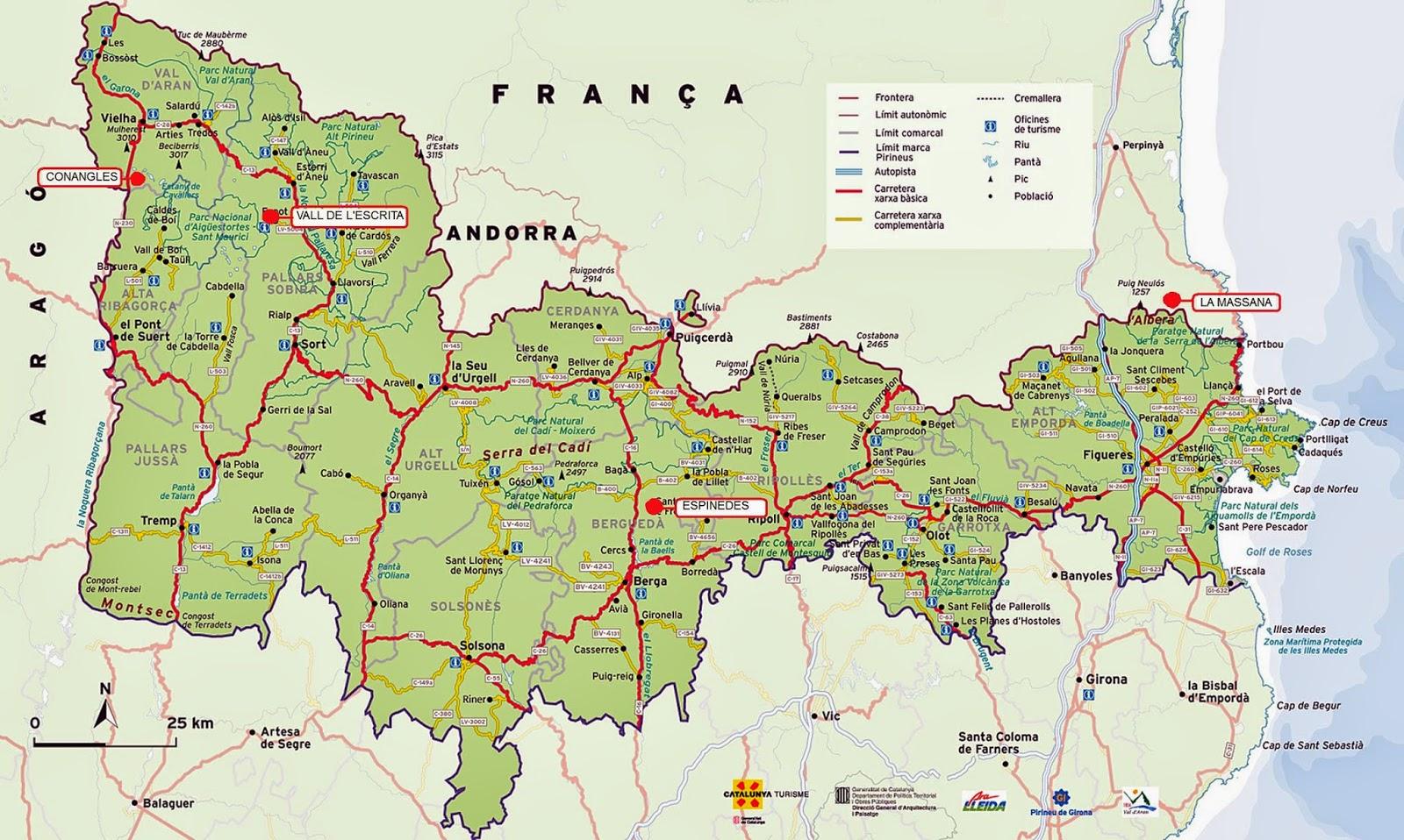Mapa de boscos caducifolis de Catalunya Bosc de Conangles Vall Escrita