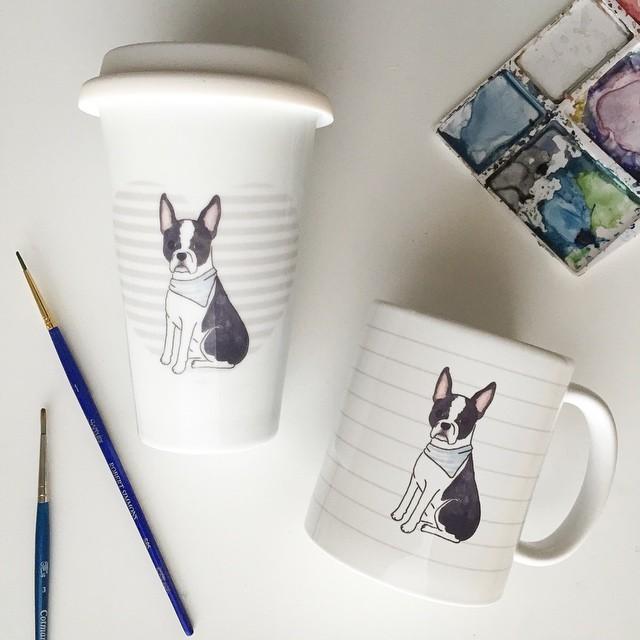 Kori Clark Design watercolor mugs