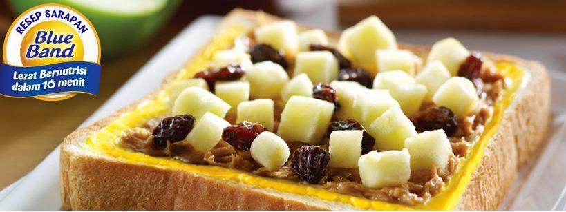 Resep Roti Kacang Tabur Apel ala Blueband