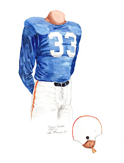 1952 University of Florida Gators football uniform original art for sale