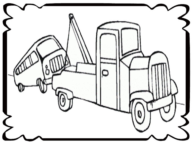Tow Truckc Coloring Page Printout