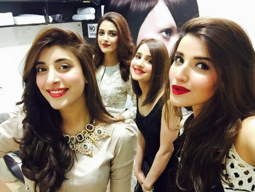 Maya Ali Sania Shamshad Sanam Chaudhry Urwa Amp Hareem Farooqi Enjoying Hum Awards In Dubai