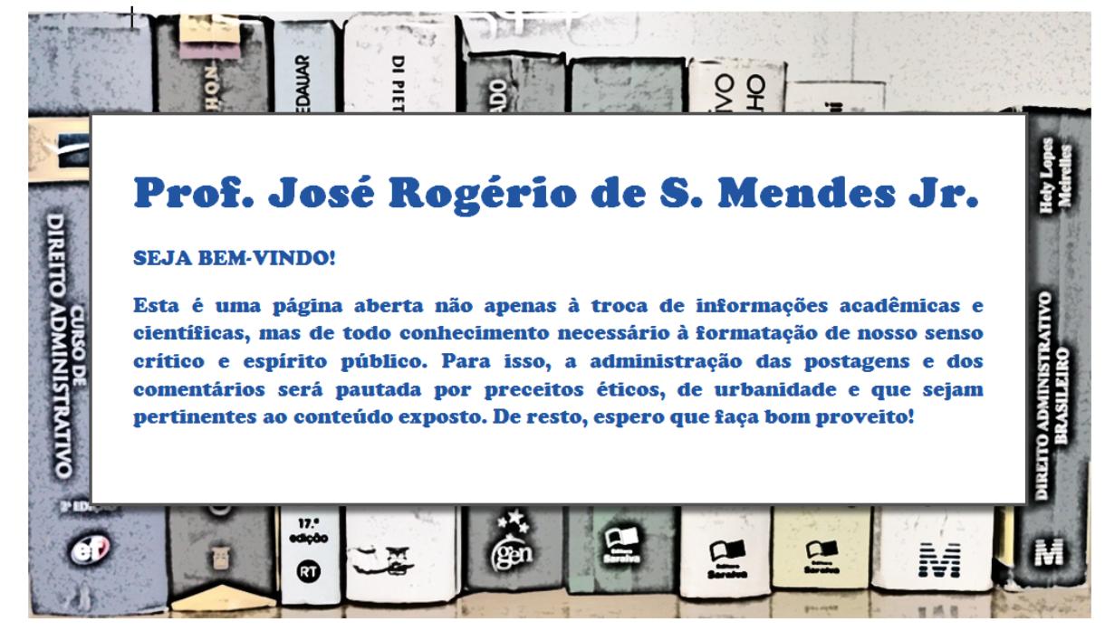 Prof. José Rogério de S. Mendes Jr. - Direito, Acadêmico e Pesquisa Jurídica