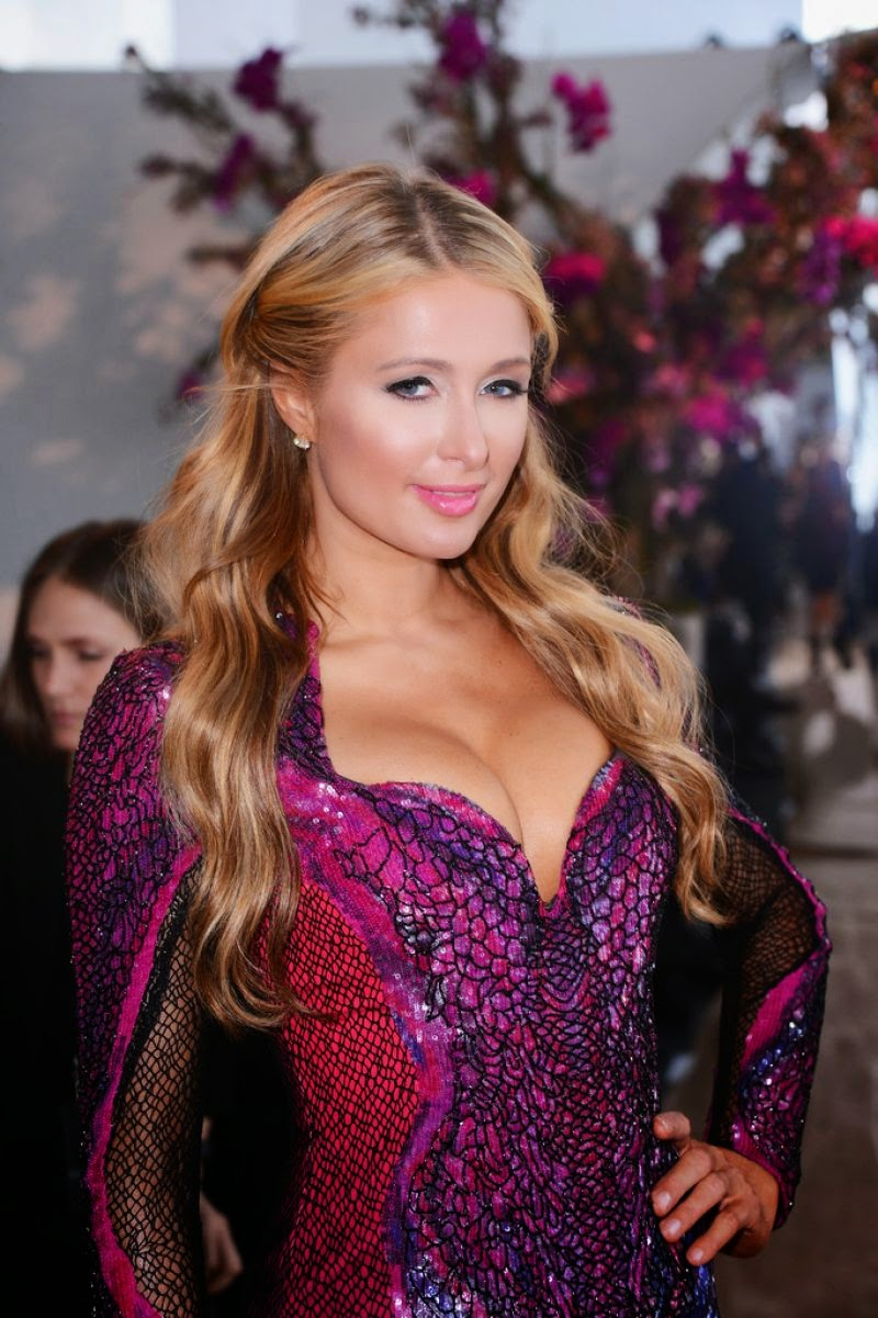 Socialite, Television Personality, Model, Actress, Singer @ Paris Hilton gabriela cadena fashion show in New York Lingerie 2015