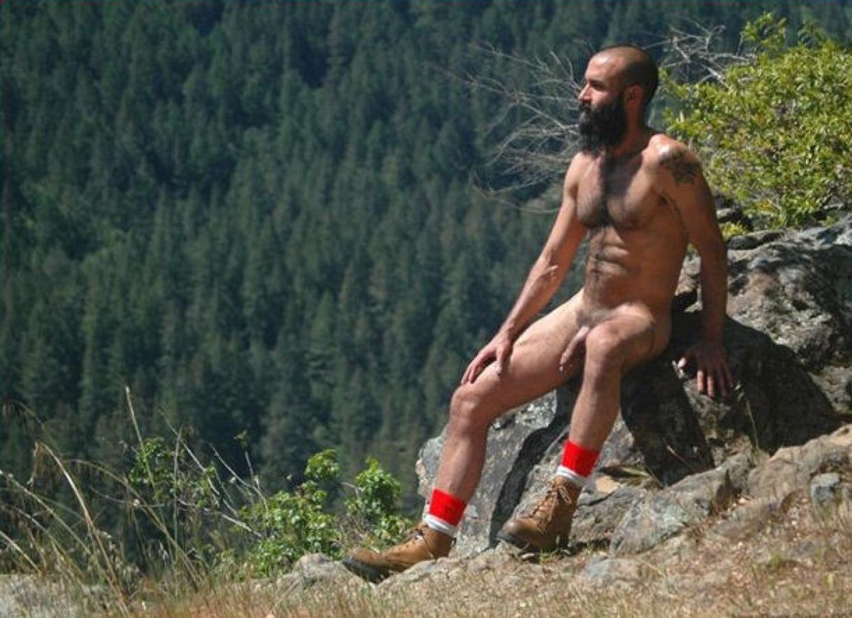 men Naked mountain