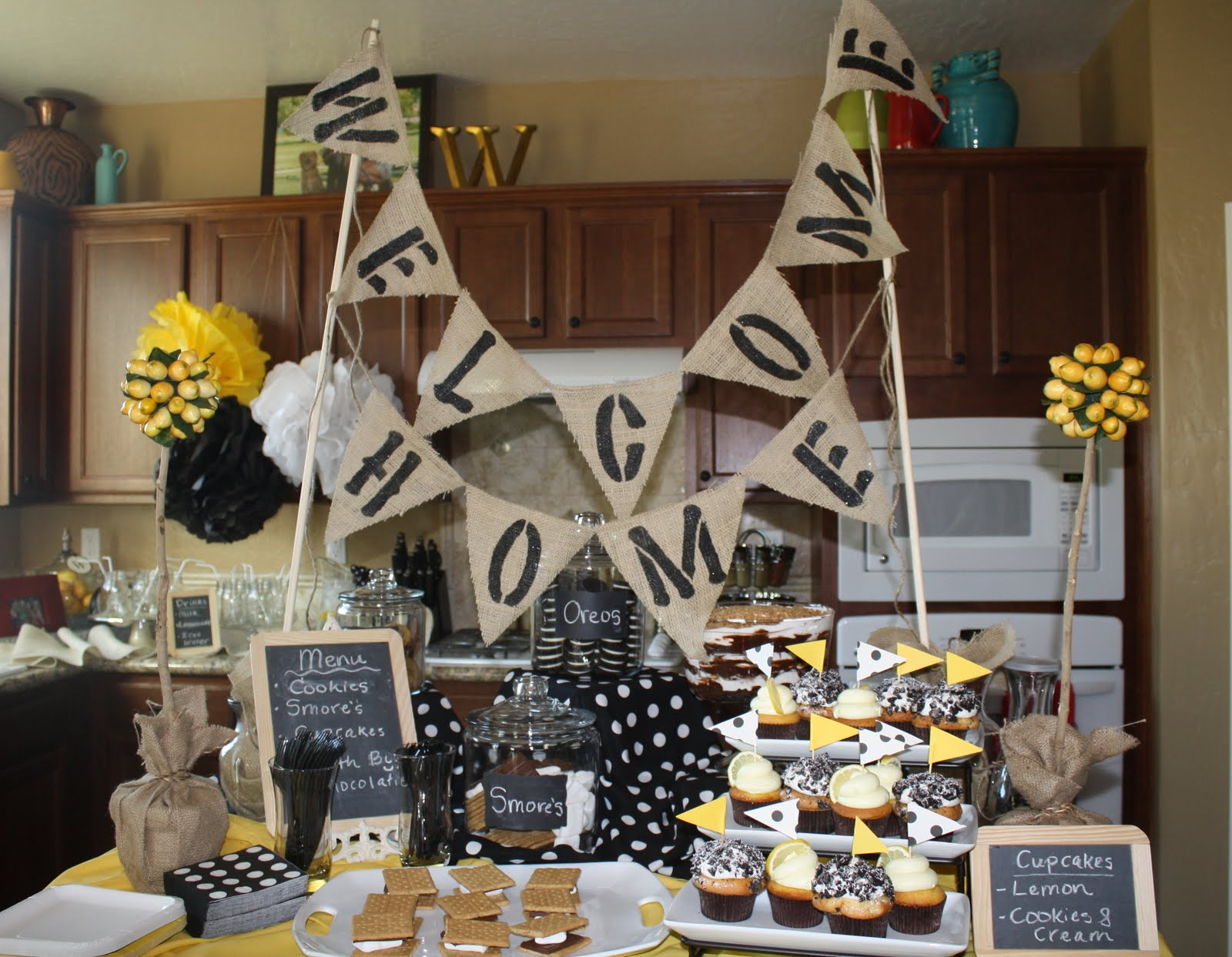 Great ideas parties 2 for Welcome home decorations for baby