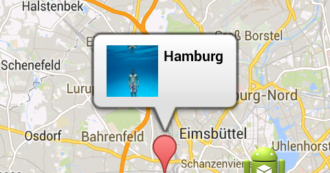 Android Display Custom Info Window With Imageview On Google Map V2