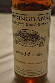 Springbank 14yo SC 'Exclusively distilled for Christer Pöhner Pyrre' 52,3% ABV