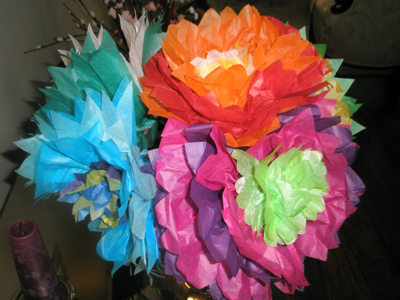 My paper playhouse tissue paper flowers tutorial and a giveaway these are super fun and easy to make we did them in bright colours and colour combinations my mother is hosting a baby shower for her niece my mightylinksfo