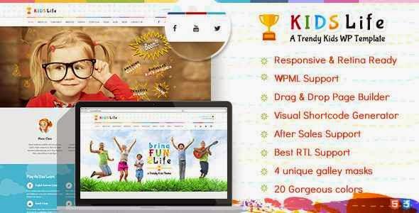 Kids Life Kindergarten WordPress Theme Download