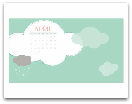 Stampin' Up! April Showers Digital Wallpaper Free Download