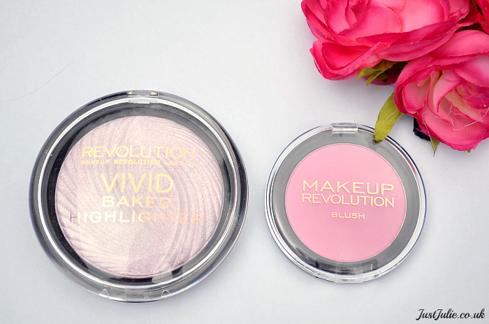 Makeup Revolution Highlighter and Powder Blush Review