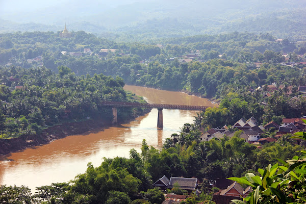 Nam Khan river passing through Luang Prabang