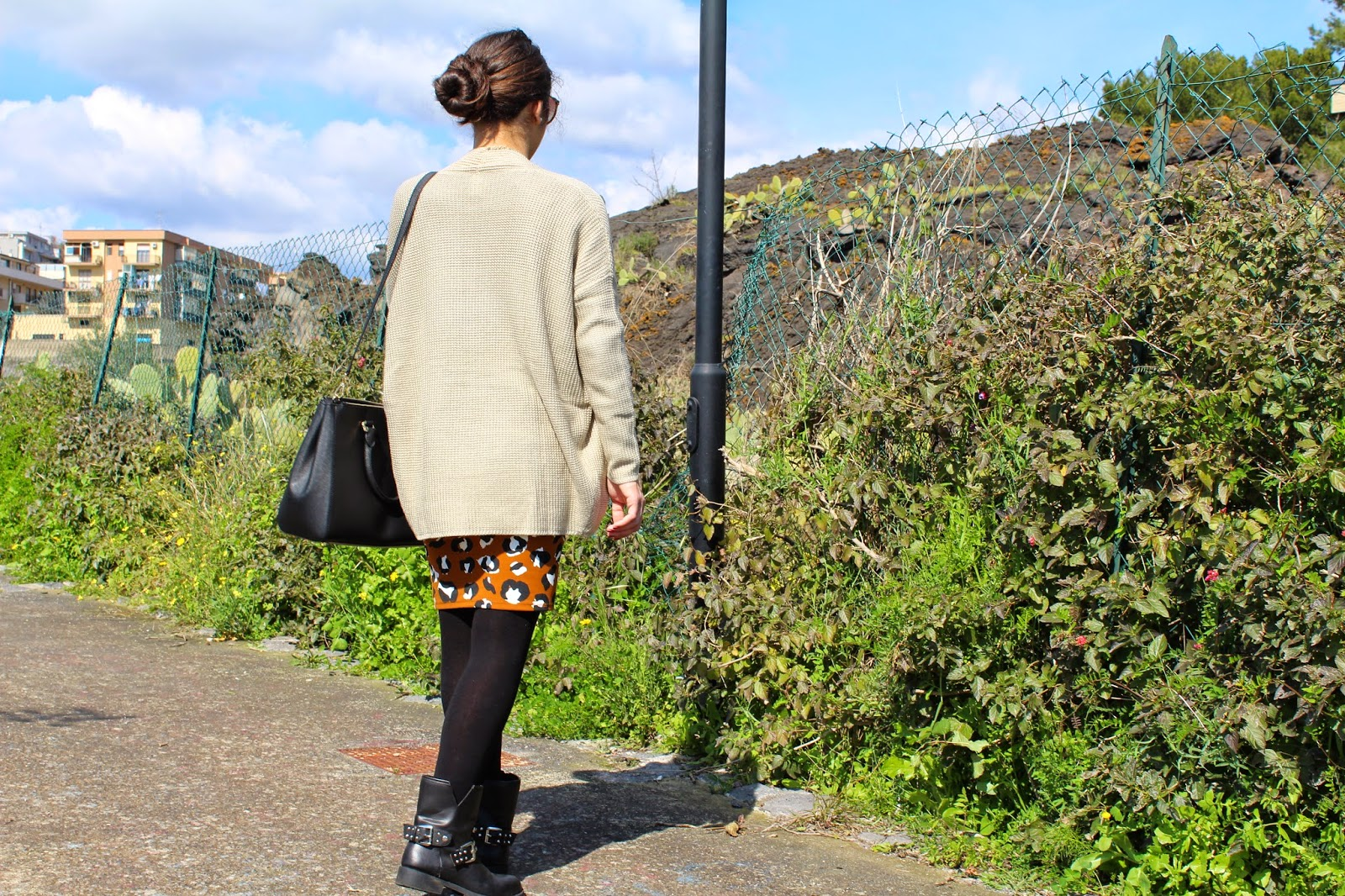 outfit longuette animalier