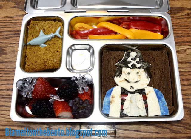 Talk like a pirate day bento blog hop Captain Pugwash lunch